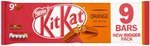 Clearance Line Nestle Kit Kat 2 Finger Orange 9 Pack