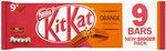 Clearance Line Nestle Kit Kat 2 Finger Orange 9 Pack