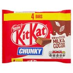 Clearance Line Nestle Kit Kat Chunky Milk 4 x 160g