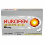 Clearance Line Nurofen Lemon Meltlets 12 per pack