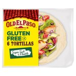 Clearance Line Old El Paso 6 Regular Gluten Free Tortillas 216g