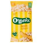 Clearance Line Organix 12 Month Goodies Organic Banana Puffcorn 4 x 10g