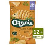Clearance Line Organix 12 Month Goodies Organic Cheese and Herb Puffs 4x15g