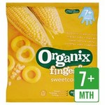 Clearance Line Organix 7 Month Finger Foods Organic Crunchy Sweetcorn Rings 20g
