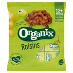 Clearance Line Organix Goodies 12 Organic Californian Raisins Mini Boxes 168g 12 Months