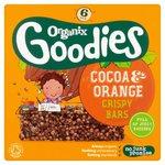Clearance Line Organix Goodies Cocoa and Orange Crispy Cereal Bar 6 x 18g