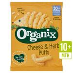 Clearance Line Organix Goodies Organic Cheese and Herb Puffs 15g