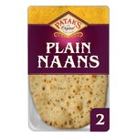 Clearance Line Pataks Plain Naan Bread 2 Pack***EXPIRY 05/06/21***