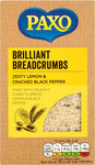 Clearance Line Paxo Brilliant Breadcrumbs Zesty Lemon and Cracked Black Pepper with Ciabatta 120g