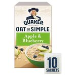 Clearance Line Quaker Oat So Simple Apple and Blueberry 360g 10 Sachets