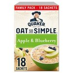Clearance Line Quaker Oat so Simple Apple and Blueberry Family Pack 18x36g