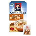 Clearance Line Quaker Oat So Simple Sweet Cinnamon 330g 10 Sachets ***SLIGHTLY DAMAGED OUTER CARDBOARD***