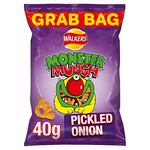 Clearance Line Retail Pack Walkers Mega Monster Munch Grab Bag Pickled Onion 30 x 40g Box
