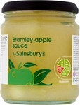 Clearance Line Sainsburys Bramley Apple Sauce 250g