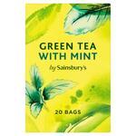 Clearance Line Sainsburys Fairtrade Green Tea with Mint 20 Teabags