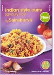 Clearance Line Sainsburys Indian Style Curry Savoury Rice 120g