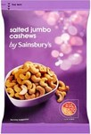 Clearance Line Sainsburys Jumbo Salted Cashews 200g