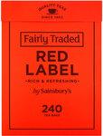 Clearance Line Sainsburys Red Label Tea 240 Teabags ***SLIGHT BOX DAMAGE PRODUCT FINE***