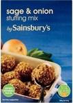 Clearance Line Sainsburys Stuffing Sage And Onion Mix 170g