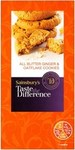 Clearance Line Sainsburys Taste the Difference Ginger and Oatflake Cookies 200g
