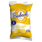 Clearance Line Seabrook Crinkle Cut Cheese and Onion Crisps 6 pack