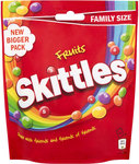Clearance Line Skittles Sweets Fruits 196g Bag