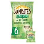 Clearance Line Sunbites Sour Cream and Black Pepper 6 Pack