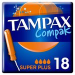 Clearance Line Tampax Compak with Applicator Super Plus 18