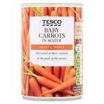 Clearance Line Tesco Baby Carrots 300g ***DENTED CAN PRODUCT FINE***