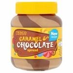 Clearance Line Tesco Caramel and Chocolate Spread 400g