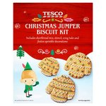 Clearance Line Tesco Christmas Jumper Biscuit Kit 194G