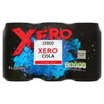 Clearance Line Tesco Cola Xero 6x330ml Cans