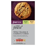 Clearance Line Tesco Finest Free From White Chocolate and Cranberry Cookies 150g