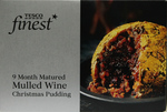 Clearance Line Tesco Finest Mulled Wine Christmas Pudding 400g