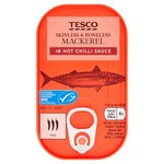 Clearance Line Tesco Mackerel in Hot Chilli Sauce 110g
