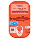 Clearance Line Tesco Mackerel in Hot Chilli Sauce 110g