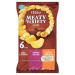 Clearance Line Tesco Meaty Variety Crisps 6 Pack **26TH JANUARY SHELF LIFE**