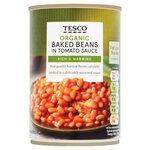 Clearance Line Tesco Organic Baked Beans In Tomato Sauce 420g