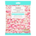 Clearance Line Tesco Pink and White Mini Marshmallows 100g