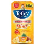 Clearance Line Tetley Super Fruit Tea Mind Exotic Fruits 20 Teabags