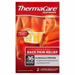 Clearance Line Thermacare Back Wrap 2pk