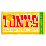 Clearance Line Tonys Chocolonely Milk Chocolate Almond Honey Nougat 180g
