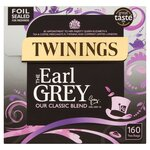 Clearance Line Twinings Earl Grey 160 Teabags ***BOX OPEN AND DENTED PRODUCT FINE***