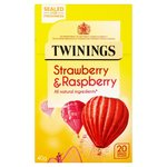 Clearance Line Twinings Strawberry and Raspberry Tea 20 Teabags