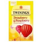 Clearance Line Twinings Strawberry and Raspberry Tea 20 Teabags