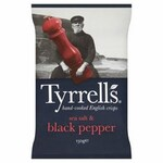 Clearance Line Tyrrells Sea Salt and Black Pepper Chips 150g