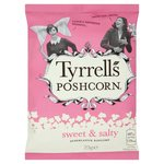 Clearance Line Tyrrells Sweet and Salty Popcorn 23g