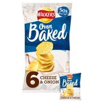 Clearance Line Walkers Baked Cheese and Onion 6 pack ***EXPIRY 3rd JULY 2021***