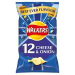 Clearance Line Walkers Cheese and Onion Crisps 12 Pack