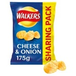 Clearance Line Walkers Cheese and Onion Crisps 175g